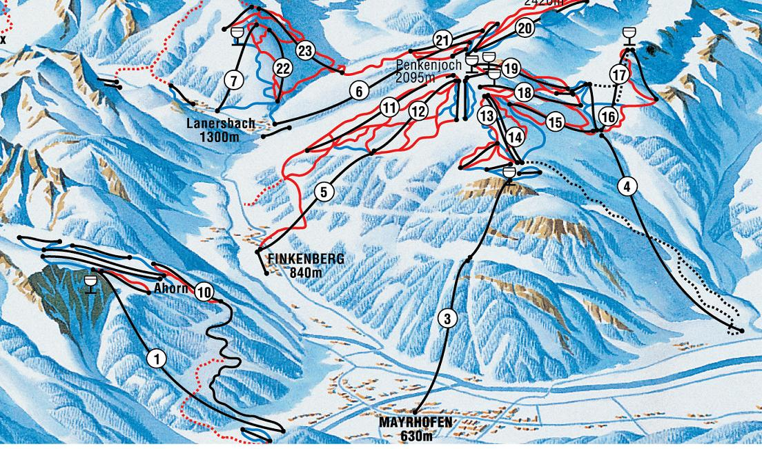Mayrhofen Ski Resort Austria Ski Line
